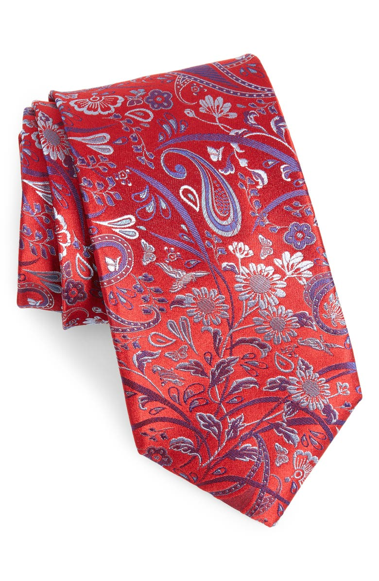 Canali Paisley Silk X Long Tie