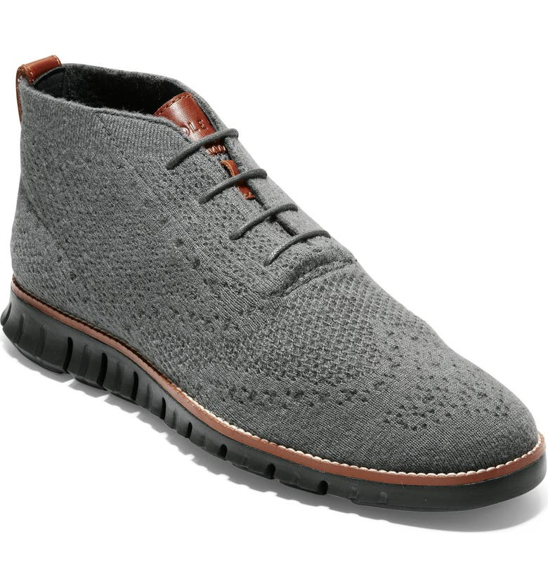 Cole Haan ZeroGrand Stitchlite Knitted Wool Chukka Boot Men