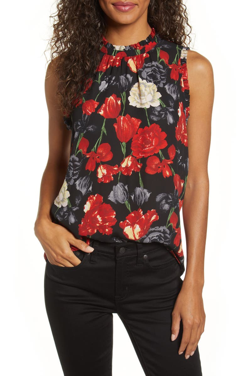 GIBSON x Fall Refresh The Motherchic Ruffle High Neck Top, Main, color, WESTERFORD FLORAL
