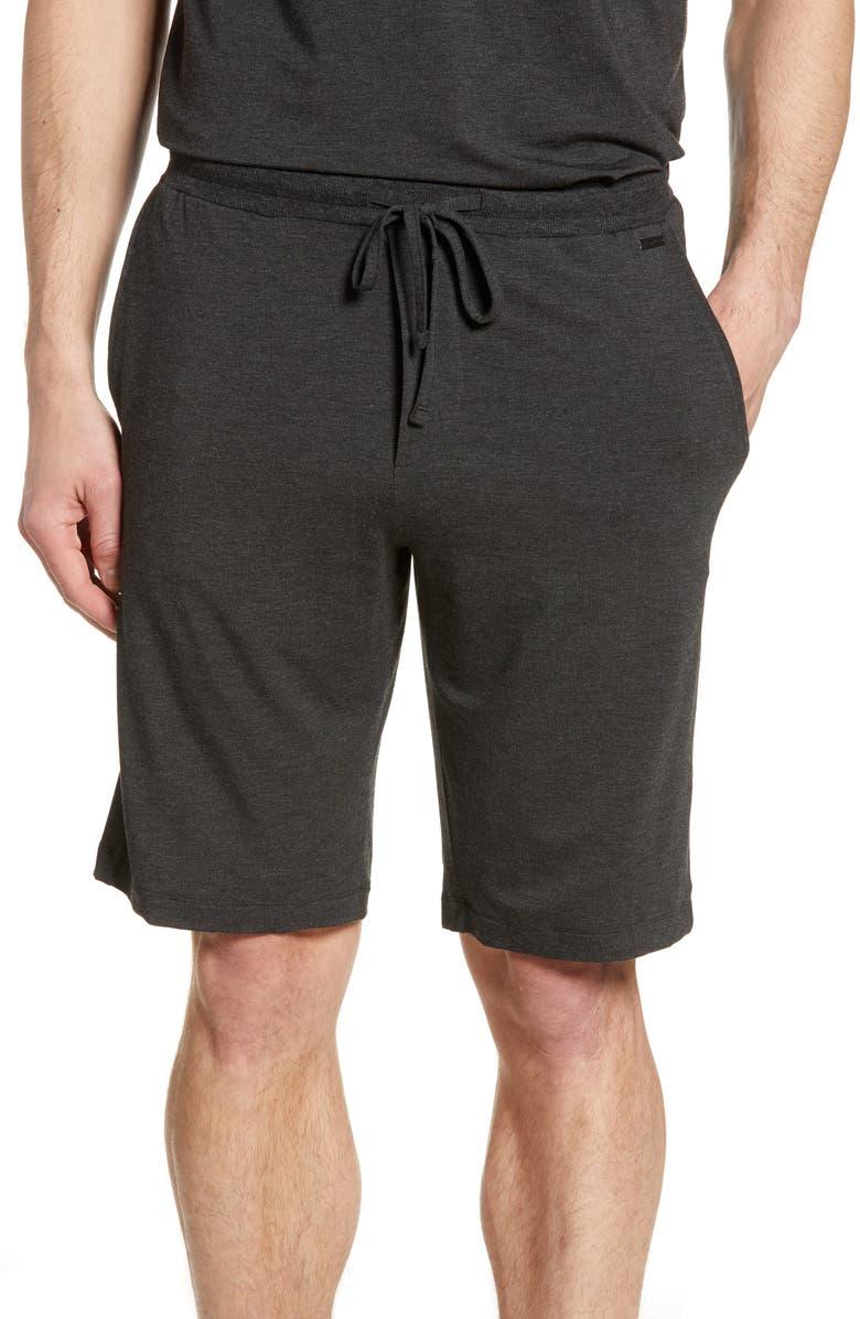 HANRO Casuals Lounge Shorts, Main, color, CAVIAR