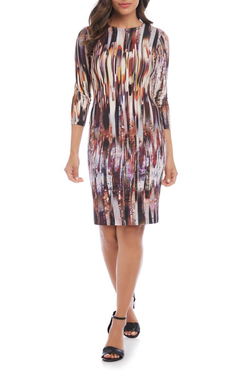 KAREN KANE Print Sheath Dress, Main, color, 960