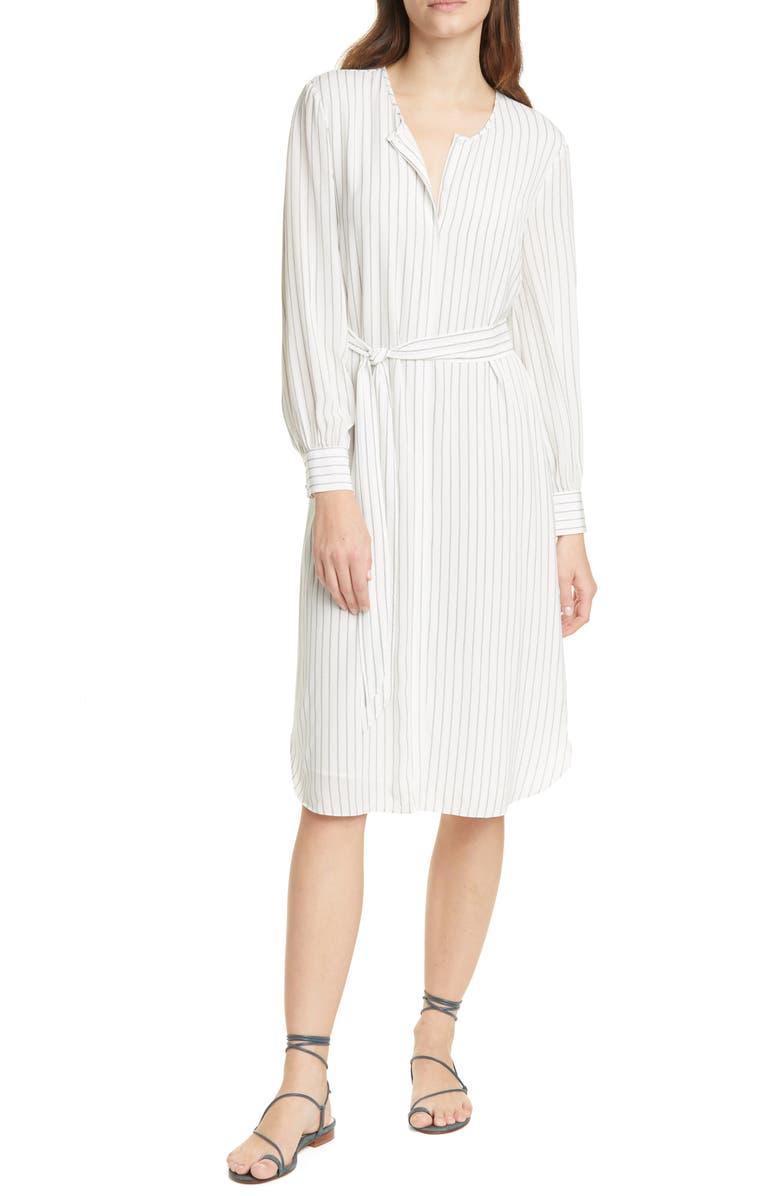JOIE Jeanee Long Sleeve Shirtdress, Main, color, 100