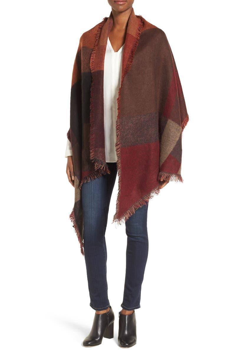 STEVE MADDEN Colorblock Blanket Scarf, Main, color, 200