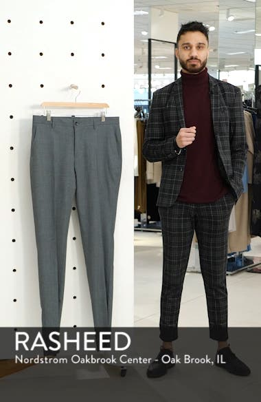 Flat Front Stretch Solid Wool & Linen Trousers, sales video thumbnail