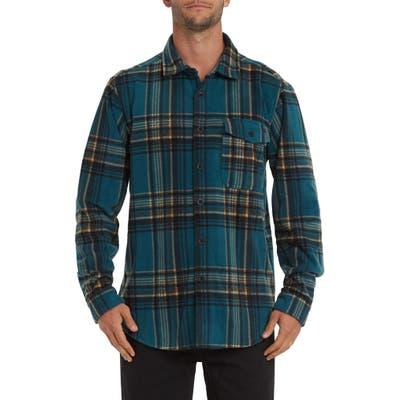 Billabong Furnace Flannel Button-Up Shirt, Green