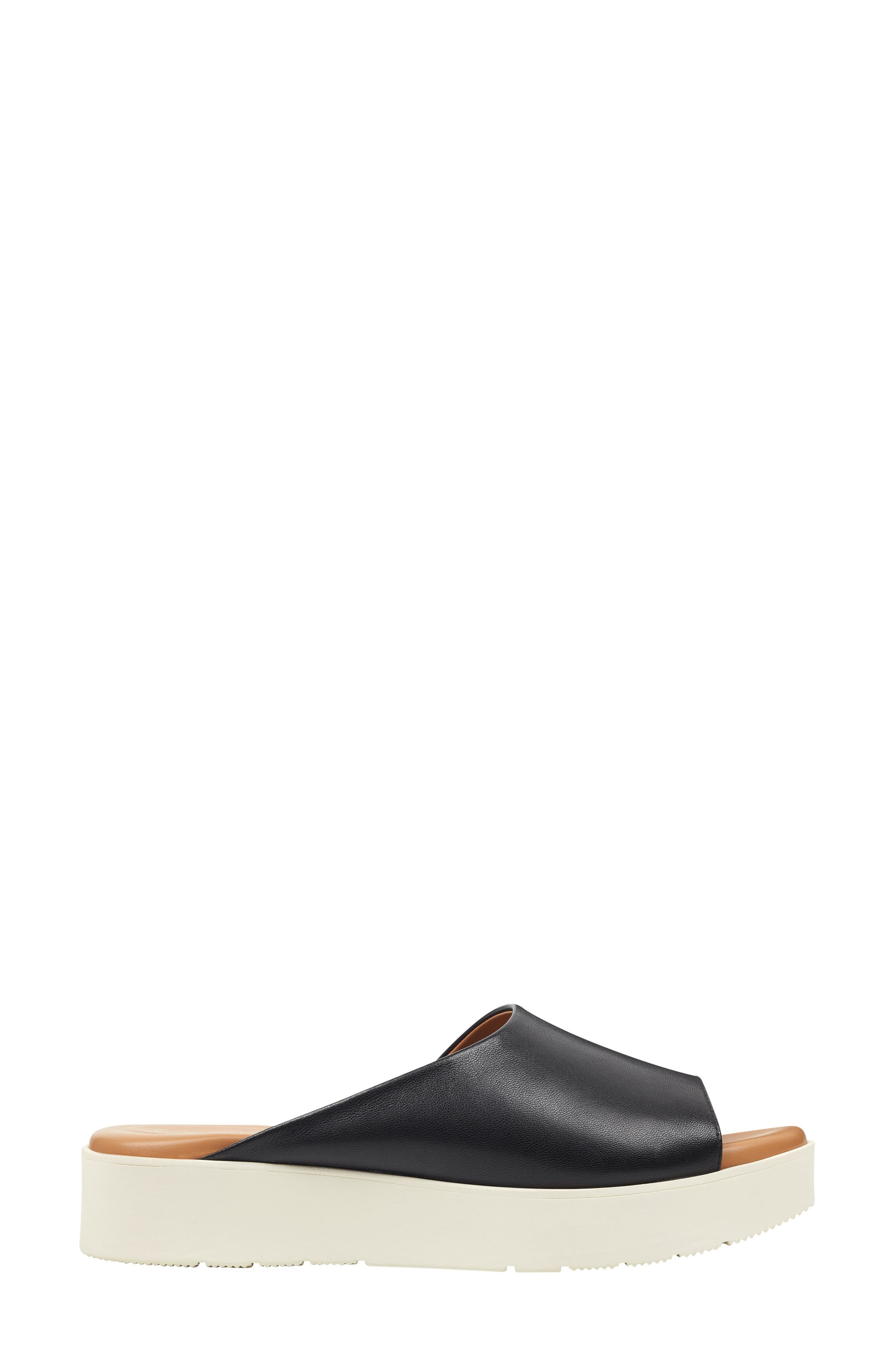 ,                             Flora Slide Sandal,                             Alternate thumbnail 2, color,                             BLACK LEATHER