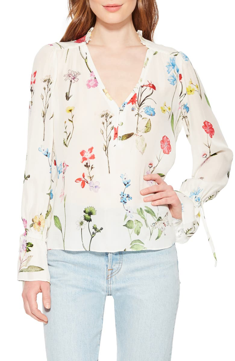 PARKER Cassidy Floral Silk Blouse, Main, color, 197