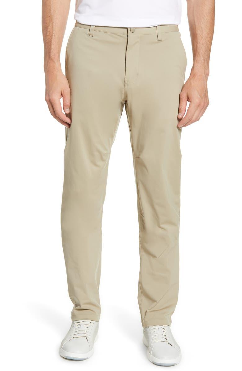 RHONE Commuter Straight Fit Pants, Main, color, KHAKI