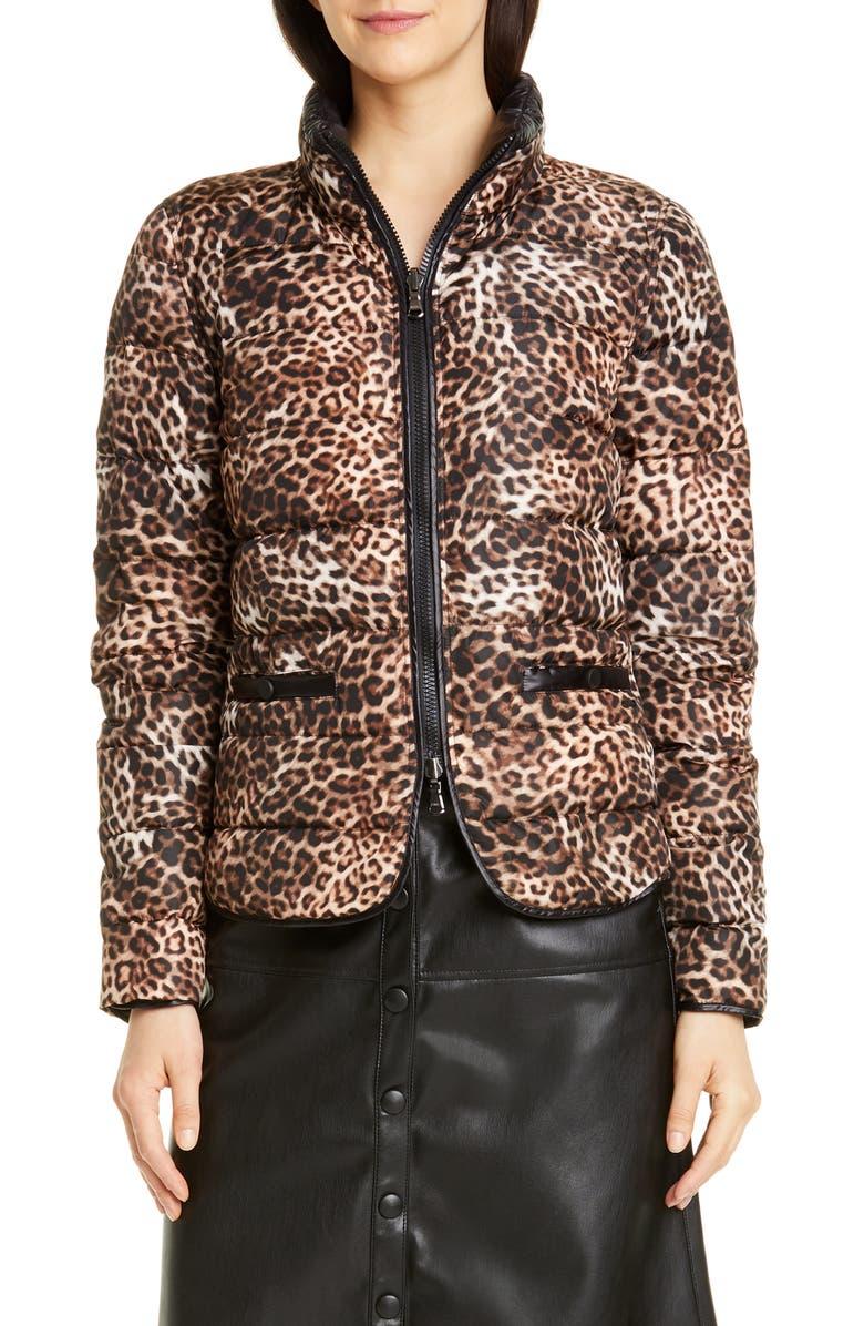 SEVENTY Leopard Print Down Jacket, Main, color, 200