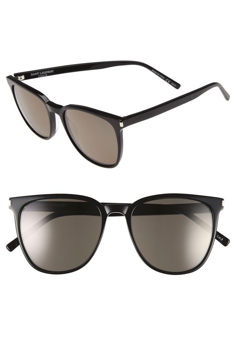 SAINT LAURENT 54mm Sunglasses, Main, color, 001