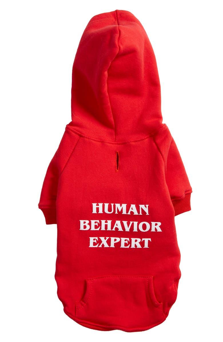 DOG BEHAVIOR EXPERT Human Behavior Expert Dog Hoodie, Main, color, RED