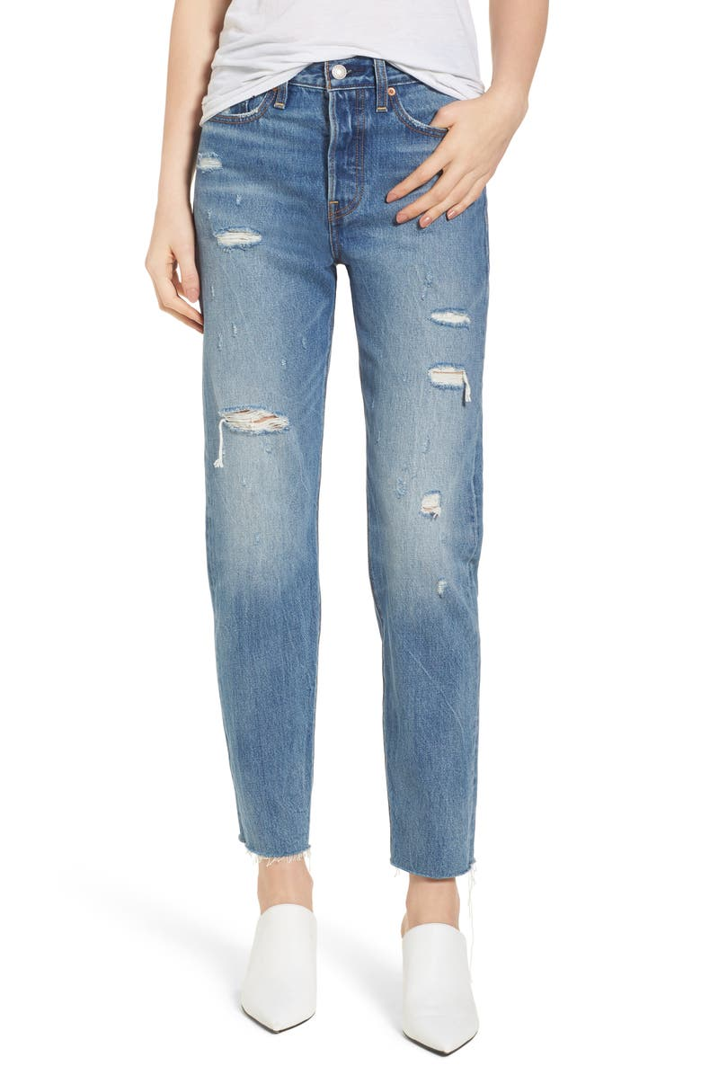 LEVI'S<SUP>®</SUP> Wedgie High Waist Crop Jeans, Main, color, 420
