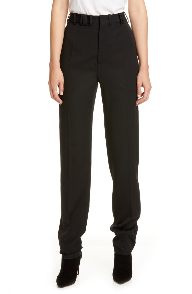 Y/PROJECT Y/Tag Multi Loop Wool Trousers, Main, color, BLACK