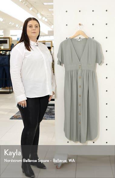 Reid Plunge Neck Midi Dress, sales video thumbnail