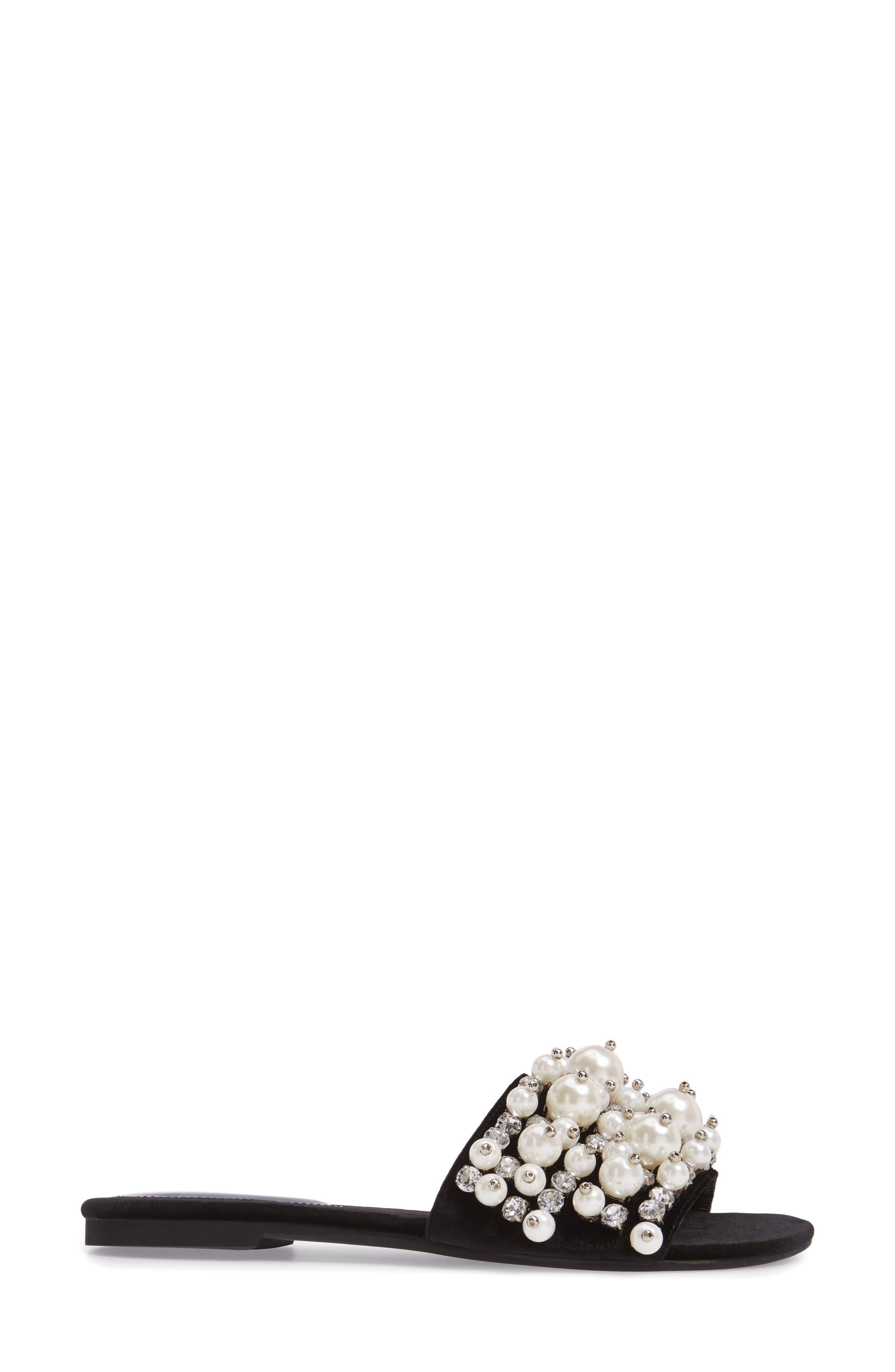 ,                             Facil Embellished Slide Sandal,                             Alternate thumbnail 3, color,                             010