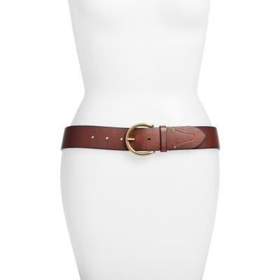 Frye Campus Leather Belt, Brown