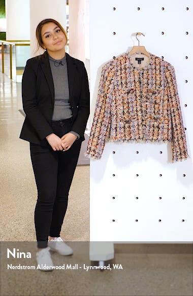 Raw Edge Cotton Blend Tweed Jacket, sales video thumbnail