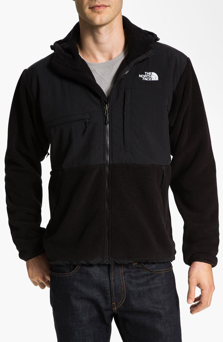 THE NORTH FACE 'Denali' Hooded Recycled Fleece Jacket, Main, color, 001