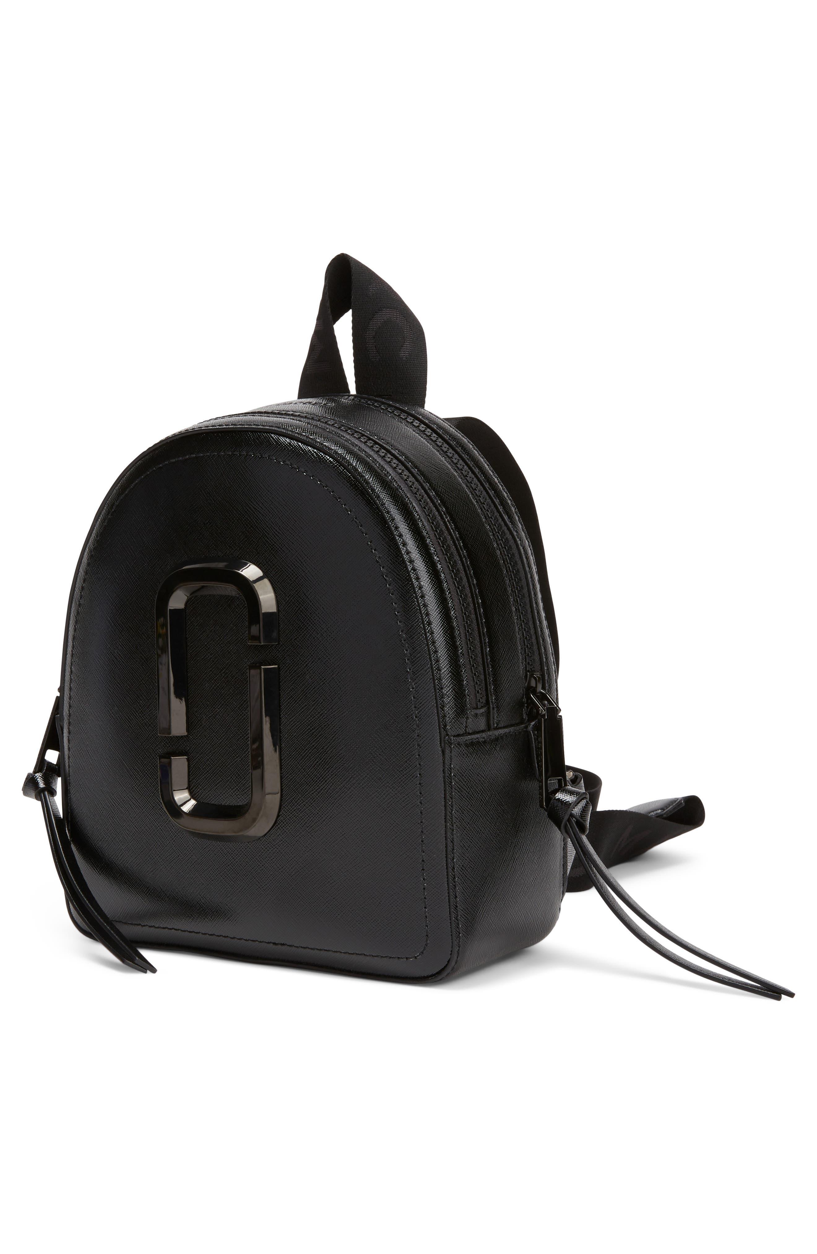 ,                             Pack Shot Leather Backpack,                             Alternate thumbnail 6, color,                             BLACK