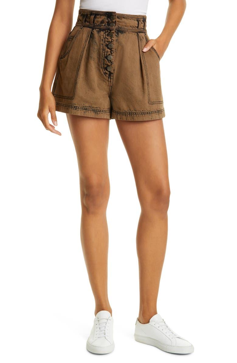 ULLA JOHNSON Ares Shorts, Main, color, DESERT PALM