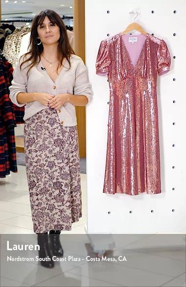 Paula Deep V-Neck Sequin Dress, sales video thumbnail