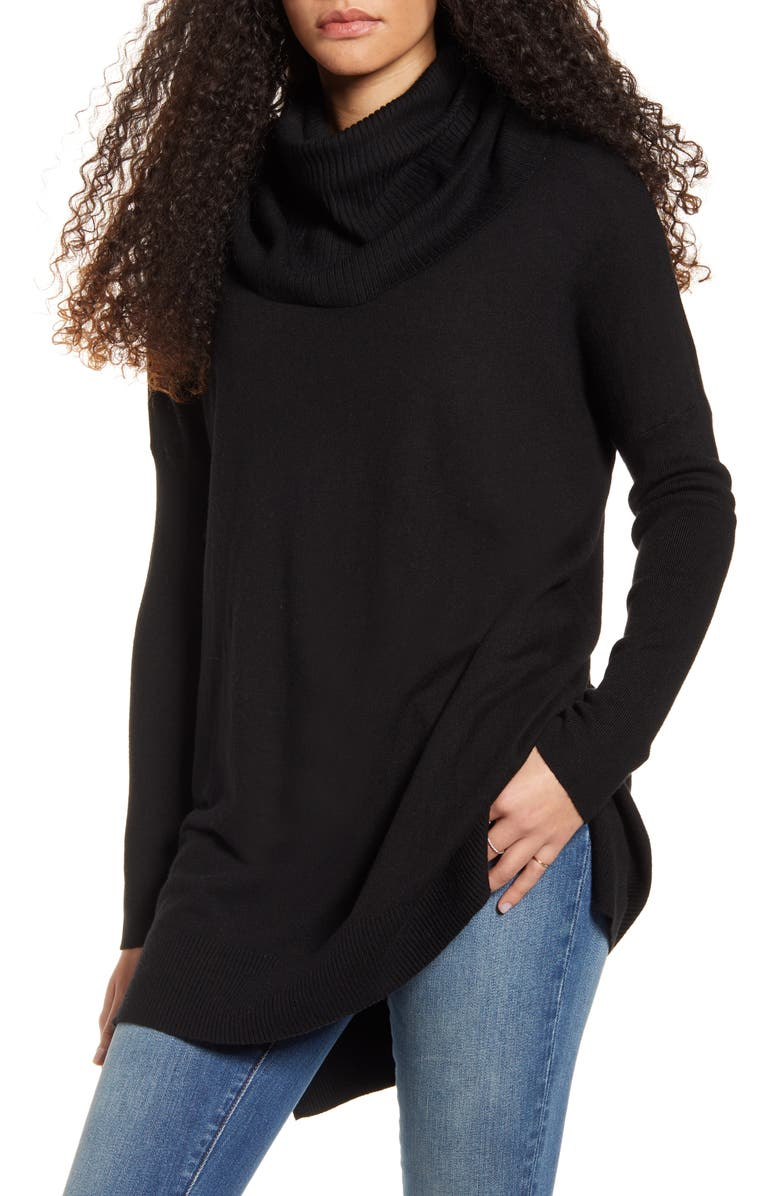 DREAMERS BY DEBUT Cowl Neck Tunic, Main, color, 001