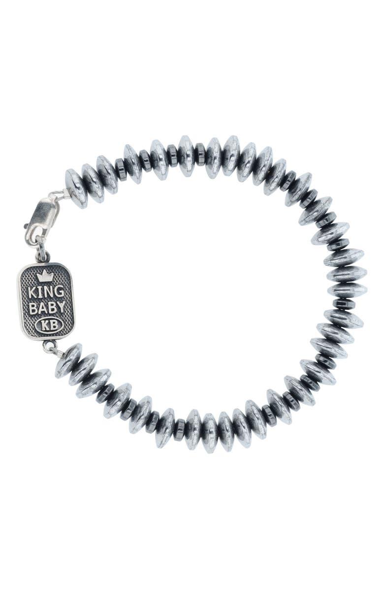 KING BABY Hematite Bead Bracelet, Main, color, 040
