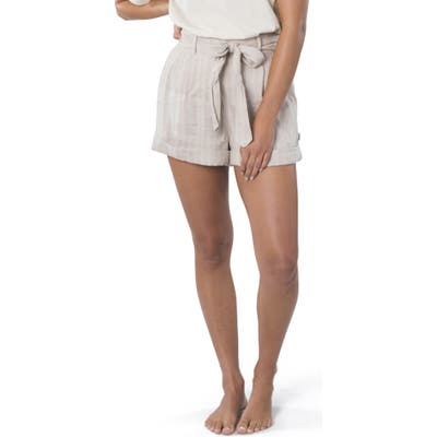Rip Curl The Nomadic Belted High Waist Shorts, White