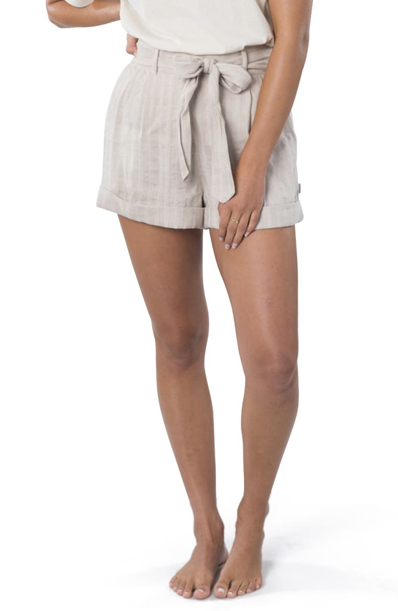 RIP CURL The Nomadic Belted High Waist Shorts, Main, color, 106