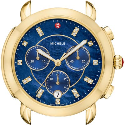 Michele Sidney Chronograph Diamond Watch Head,