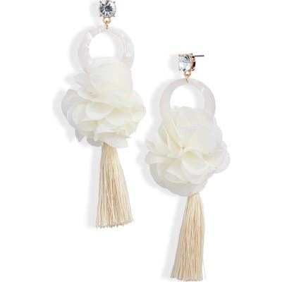 Rachel Parcell Flower & Tassel Drop Earrings (Nordstrom Exclusive)