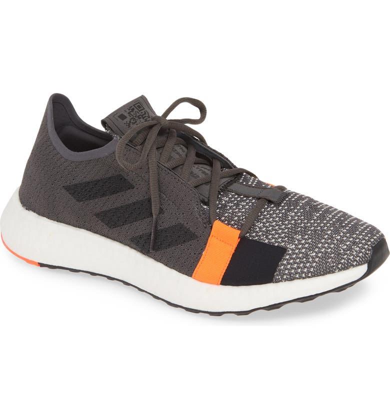 ADIDAS SenseBoost Go Running Shoe, Main, color, GREY/ CORE BLACK/ SOLAR RED