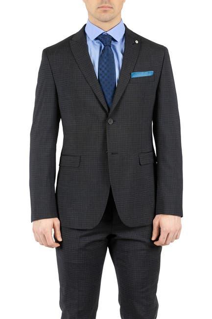 Image of Original Penguin Black Sharkskin Two Button Peak Lapel Slim Fit Suit Separates Jacket