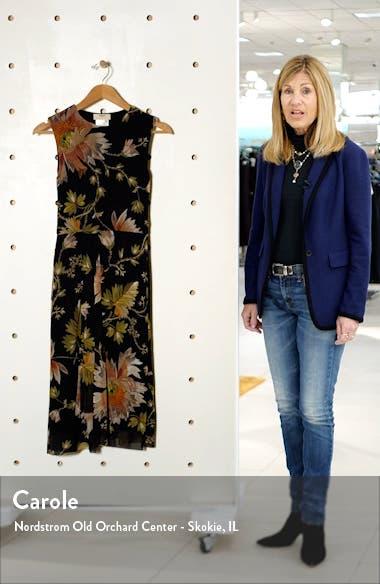 Tudor Print Pleat Detail Dress, sales video thumbnail