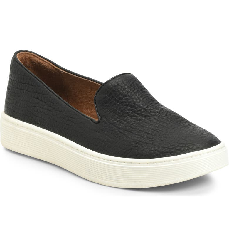 SÖFFT Somers Slip-On Sneaker, Main, color, BLACK LEATHER