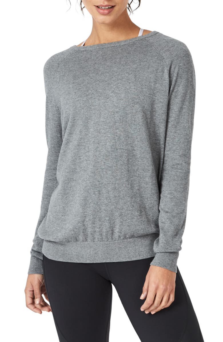 SWEATY BETTY Eternal Knit Top, Main, color, CHARCOAL