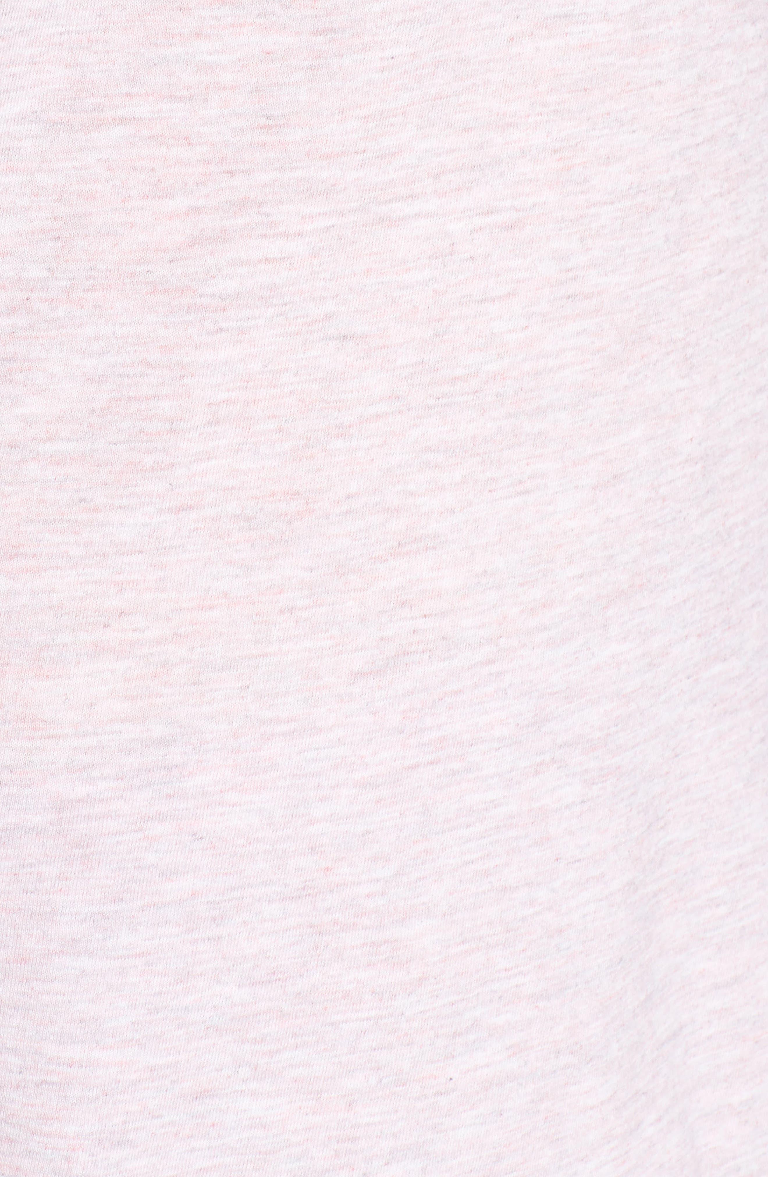 ,                             Maternity/Nursing Robe & Pajamas,                             Alternate thumbnail 6, color,                             PINK MARLE