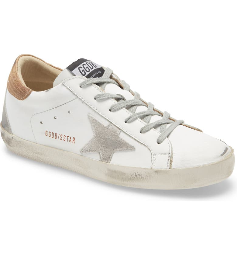 GOLDEN GOOSE Superstar Sneaker, Main, color, WHITE LEATHER/ BROWN SUEDE