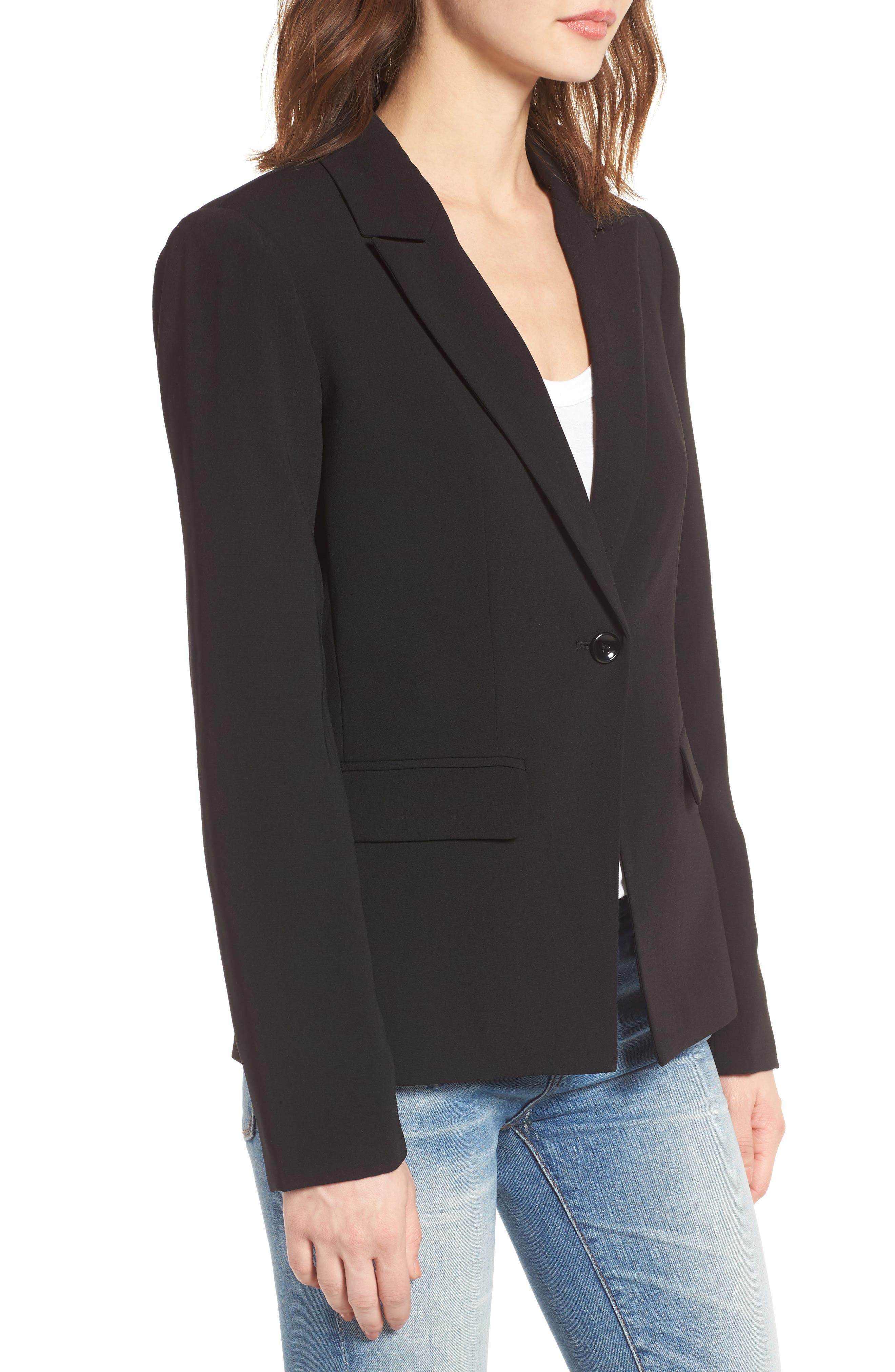 ,                             Structured Blazer,                             Alternate thumbnail 3, color,                             001
