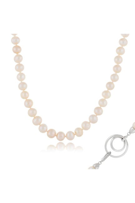 Image of Splendid Pearls 8-9mm White Freshwater Pearl Necklace