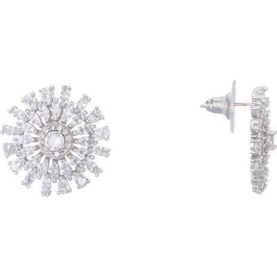 Nina Geo Flower Stud Earrings