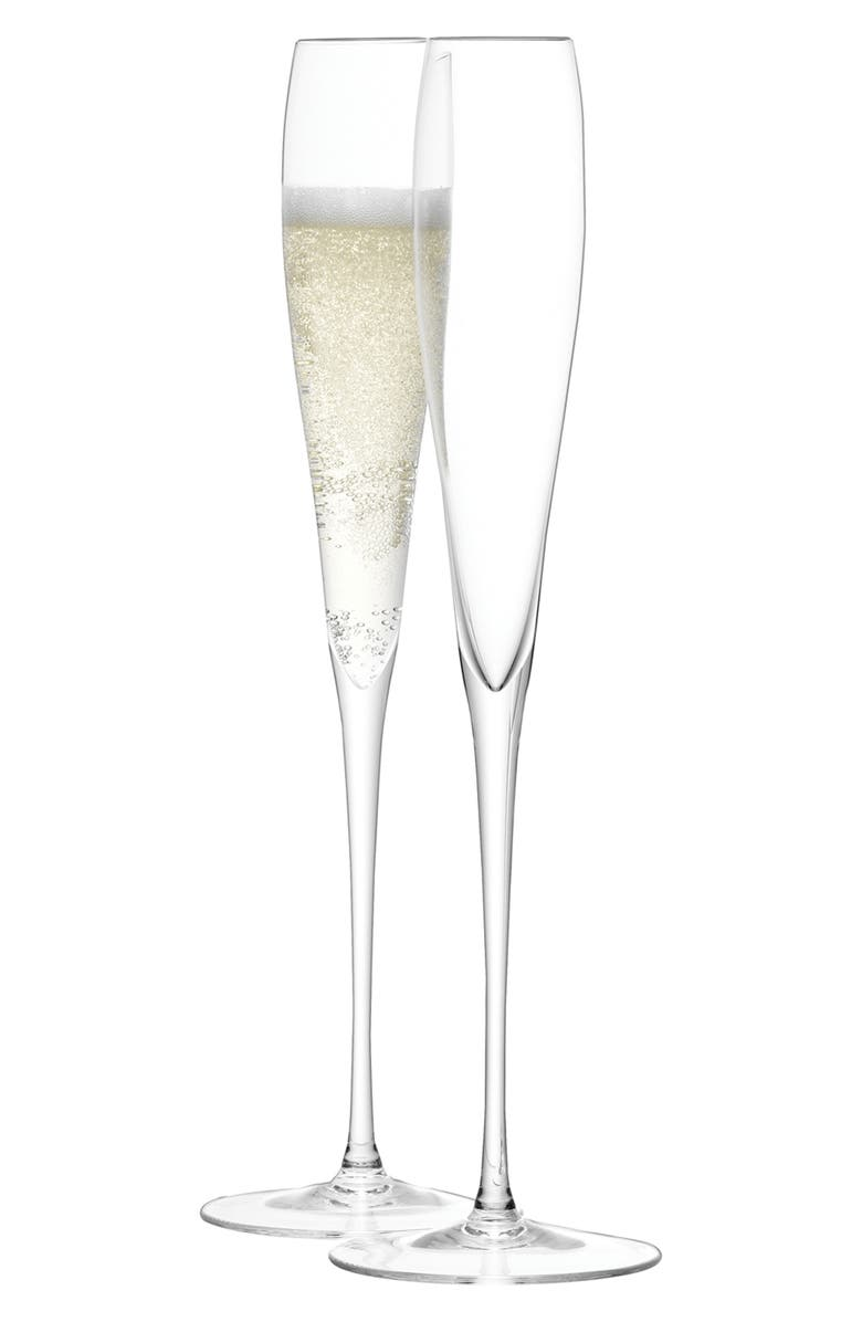 LSA Set of 2 Grand Champagne Flutes, Main, color, CLEAR