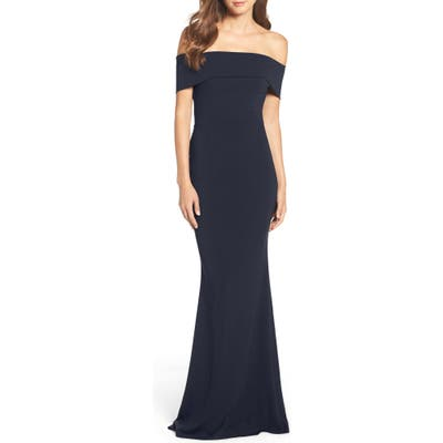Katie May Legacy Crepe Body-Con Gown, 8 (similar to 1) - Blue