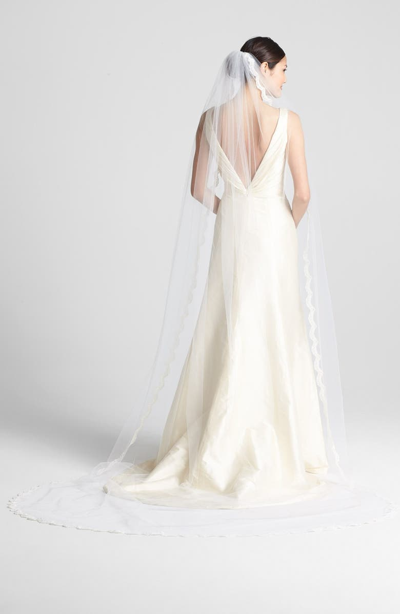 WEDDING BELLES NEW YORK 'Isabelle' Cathedral Veil, Main, color, 900