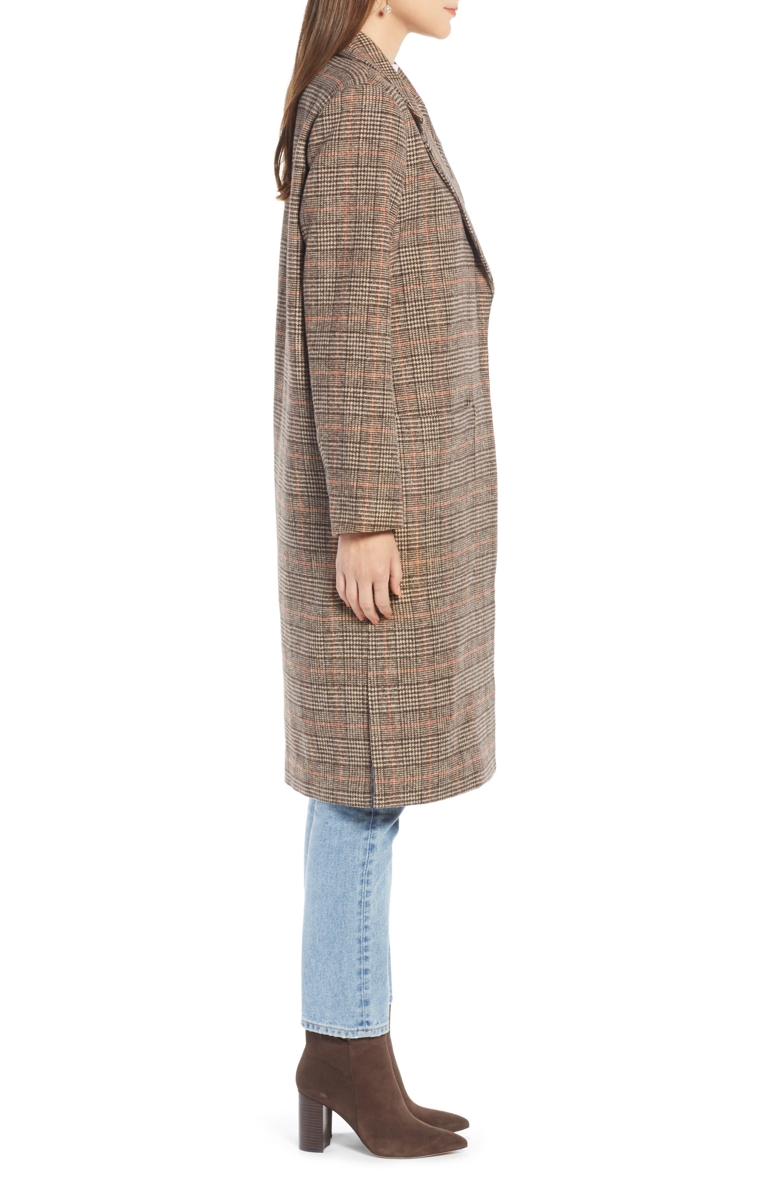 ,                             Patch Pocket Plaid Coat,                             Alternate thumbnail 4, color,                             210