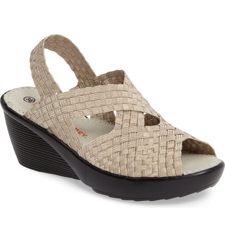 BERNIE MEV. Fresh Brighten Sandal, Main, color, LIGHT GOLD FABRIC