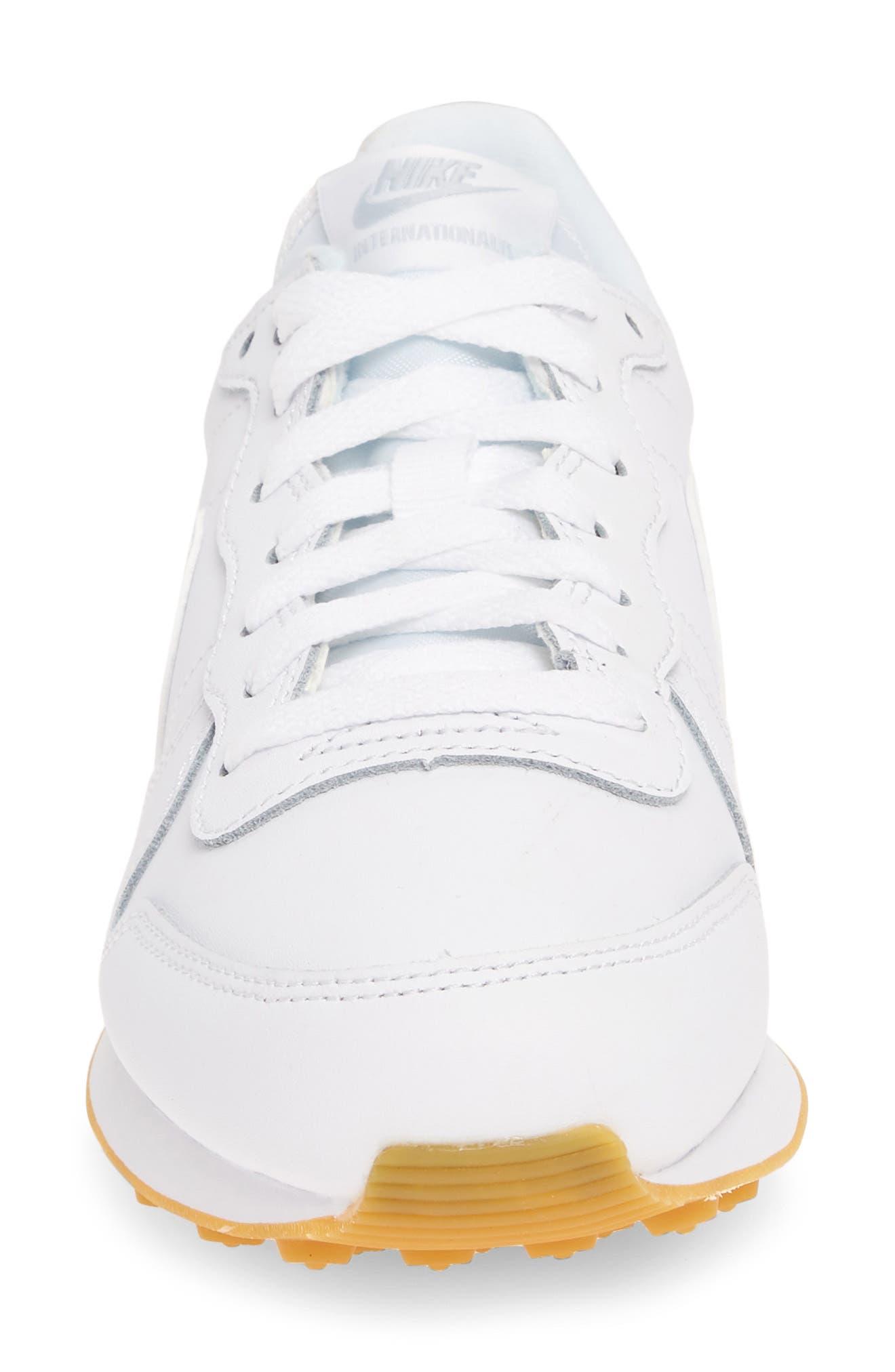 ,                             'Internationalist' Sneaker,                             Alternate thumbnail 4, color,                             WHITE/ WHITE/ GUM LIGHT BROWN