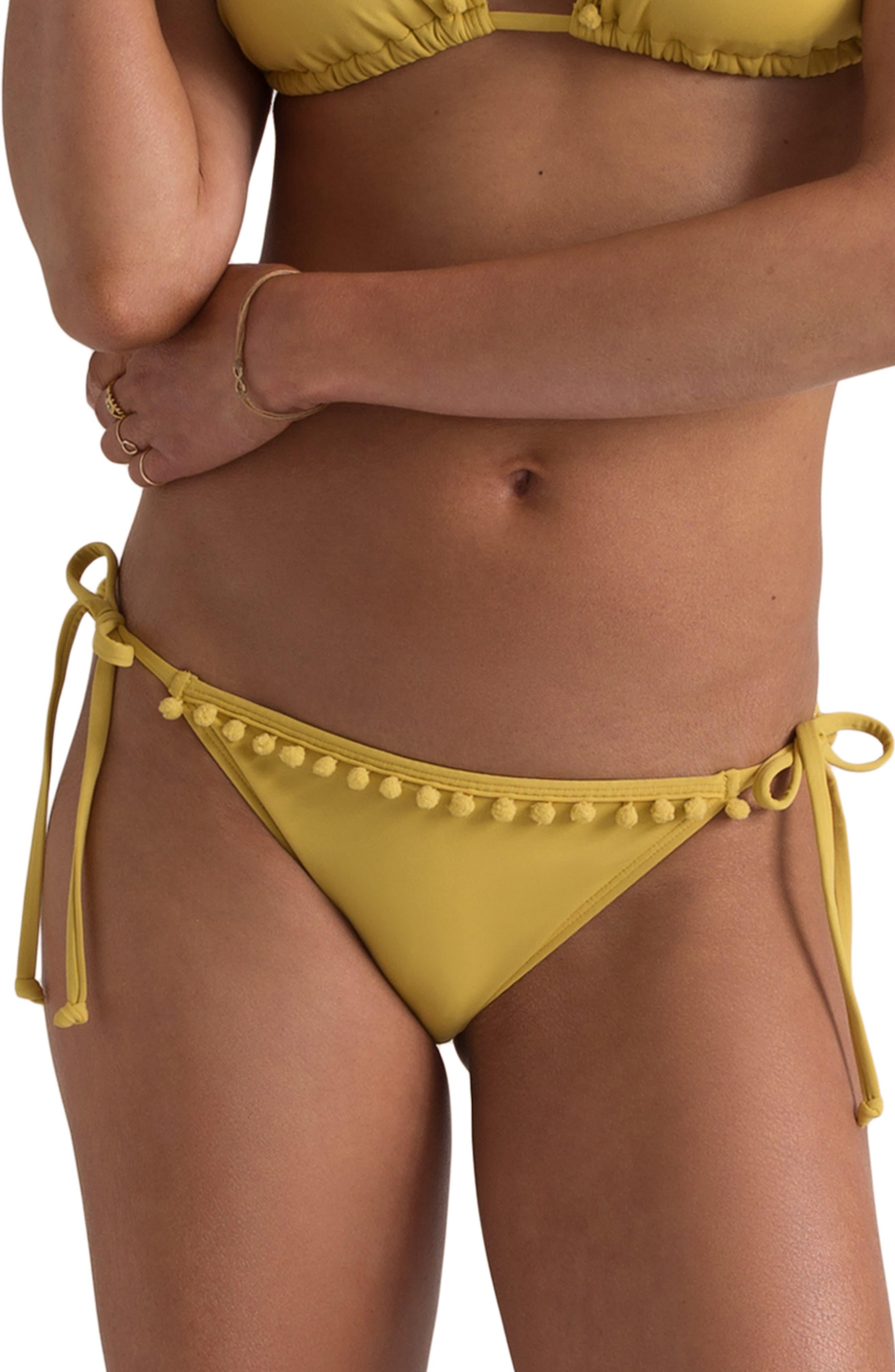 x Sincerely Jules Last Sun Bikini Bottoms, Main, color, CITRUS