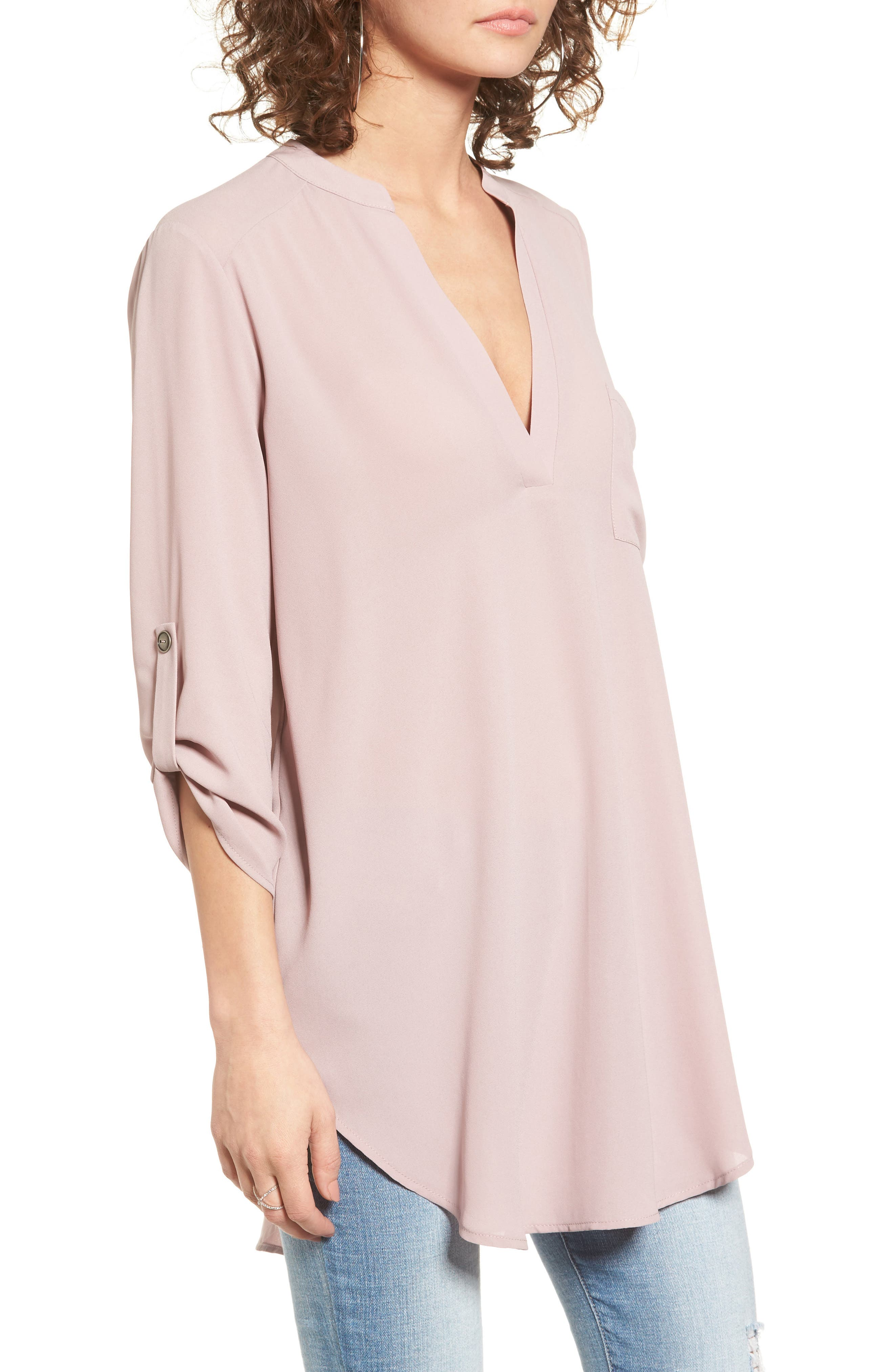 ,                             Perfect Roll Tab Sleeve Tunic,                             Alternate thumbnail 332, color,                             553