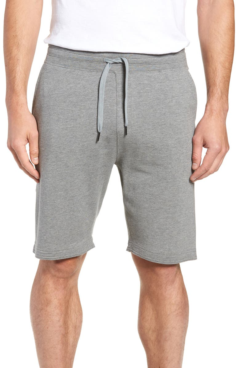TASC PERFORMANCE Legacy II Semi-Fitted Knit Athletic Shorts, Main, color, HEATHER GRAY